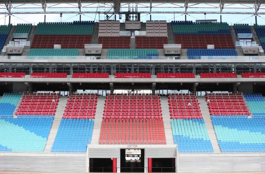 RB Leipzig will das Stadion nachhaltig umbauen.