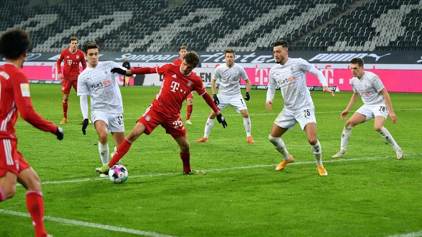 Bei Gladbachs letztem Heimspiel gegen die Bayern am 8. Januar 2021 gab es einen 3:2-Sieg für die Fohlen.