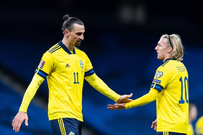Wachablösung: Zlatan Ibrahimovic und Emil Forsberg.
