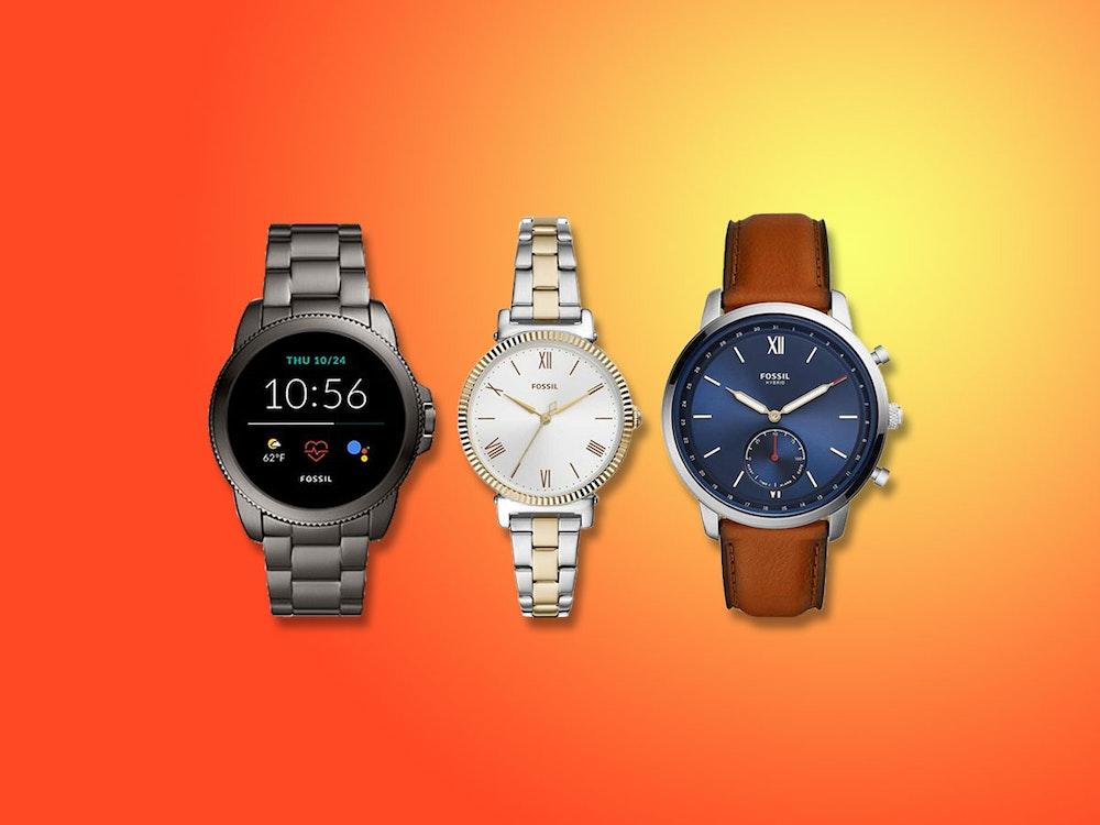 Fossil Uhren für Damen und Herren. Bild für Fossil Sale Artikel.