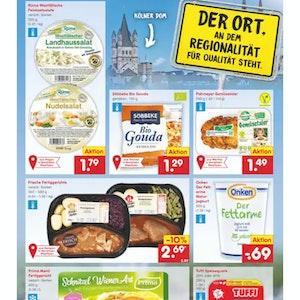 Der Netto-Lebensmittelprospekt mit der Kirche Groß St. Martin statt des Kölner Doms