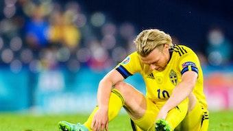 Emil Forsberg traf auch gegen die Ukraine, schied mit Schweden aber aus.