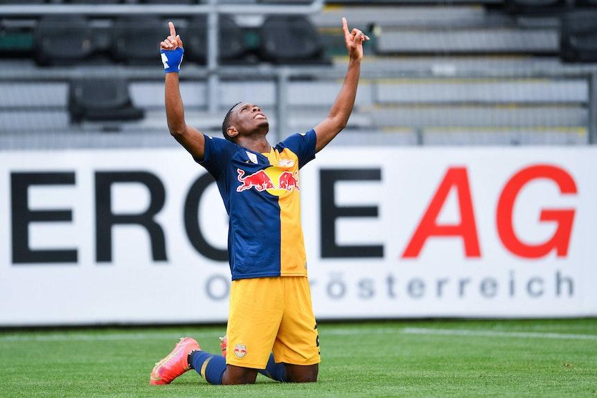 Patson Daka konnte vergangene Saison in Salzburg viele Tore bejubeln.