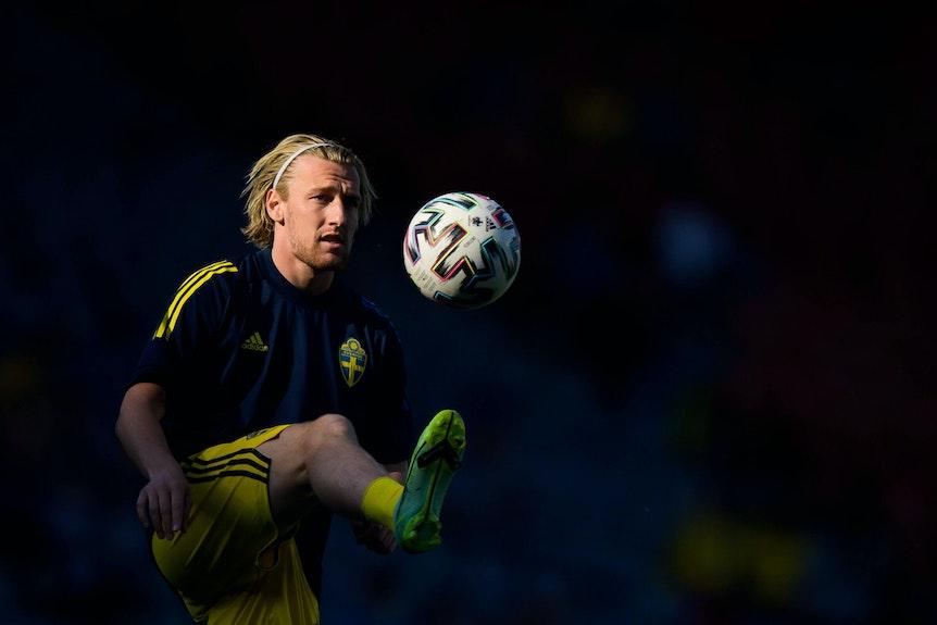 Emil Forsberg verpasste mit Schweden den Einzug ins Viertelfinale.