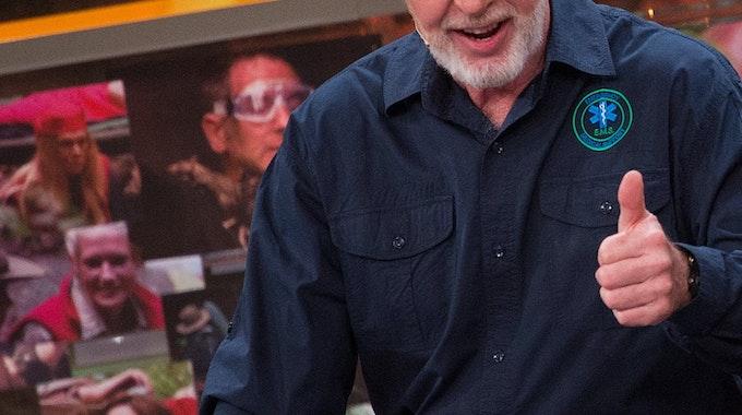 Dr Bob, Fanliebling des Dschungelcamp bei RTL, bei einer Show im Juli 2015.