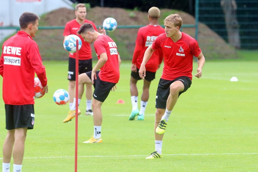 Timo Hübers erstes Training nach seiner Rückkehr zum 1. FC Köln