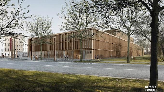 So soll der Neubau des Stadtarchivs am Eifelwall mal aussehen.