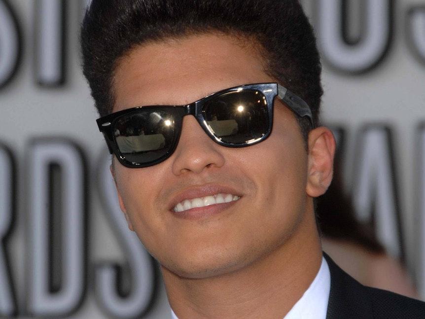 Bruno Mars auf einer Preisverleihung.