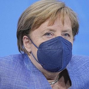 Angela Merkel spricht am 10. Juni