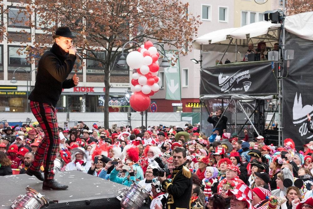 11.11. in Köln mit Brings auf dem Heumarkt