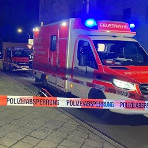 Rettungswagen Unfall Gehweg