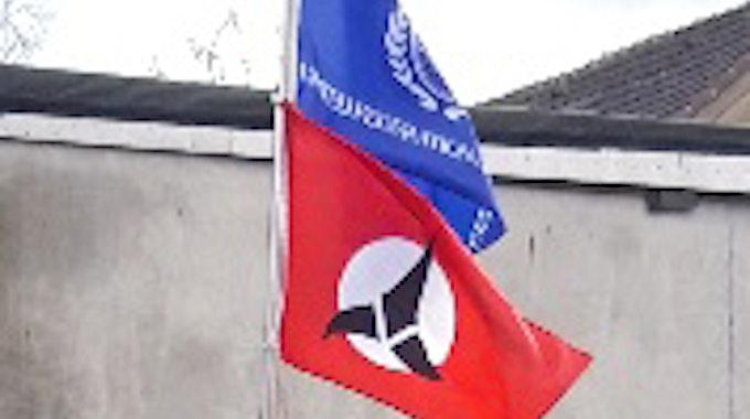 Rätselhafte Fahne Bochum