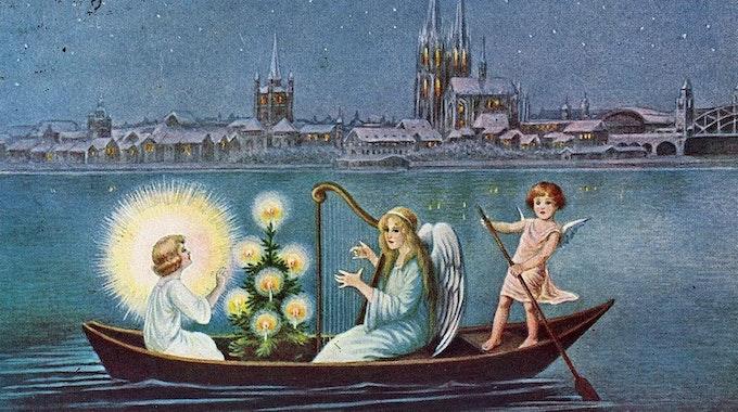 Postkarte Weihnachten Köln