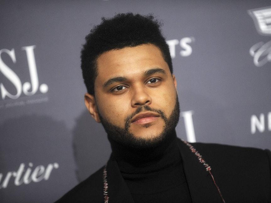 The Weeknd bei einer Preisverleihung.