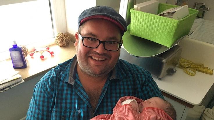 Björn Heuser mit Sohn Benjamin