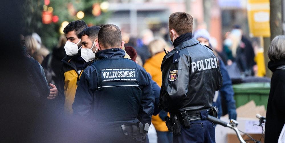Polizisten der Innenstadt