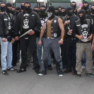 """Brutales Auftreten: Das sind die Rocker des kurdischen Clubs """"Median Empire""""."""