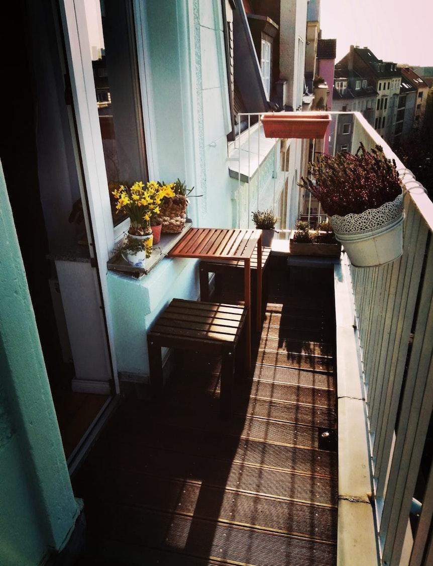 Alles schön geworden: Der Balkon