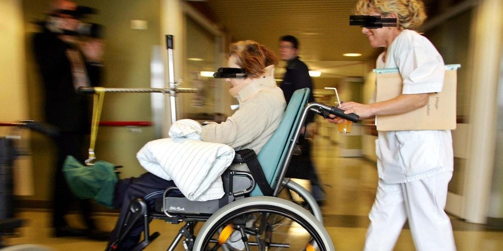 Rollstuhl gepixelt