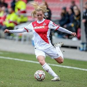 Rachel Rinast ist mit Köln in die 1. Bundesliga aufgestiegen.