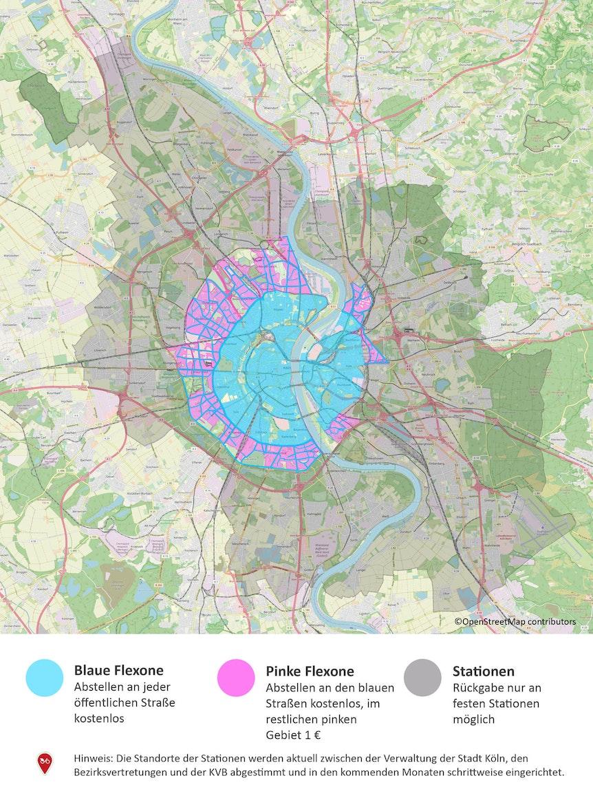 2021_04_23_PM_Das neue KVB-Rad erreicht ganz Köln_Uebersichtskarte Flex- und Stationszone