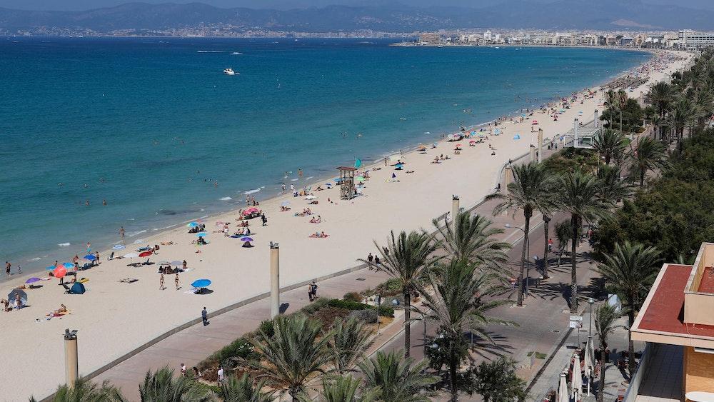 Balearen: Strand auf der beliebten Balearen-Insel Mallorca.