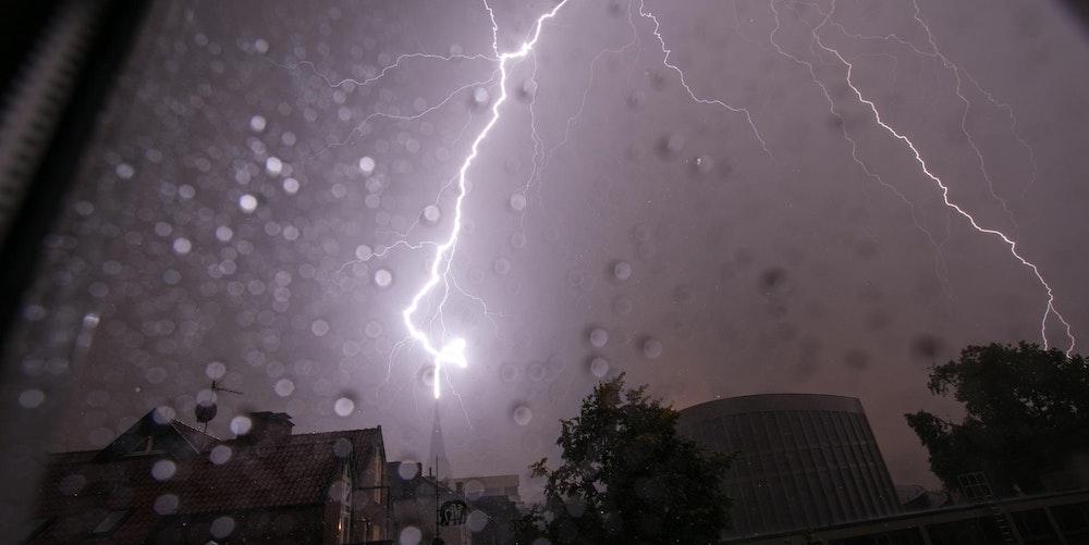 Blitze in Münster NRW