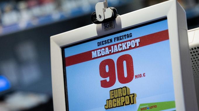 Anzeige für 90 Millionen Euro im Eurojackpot