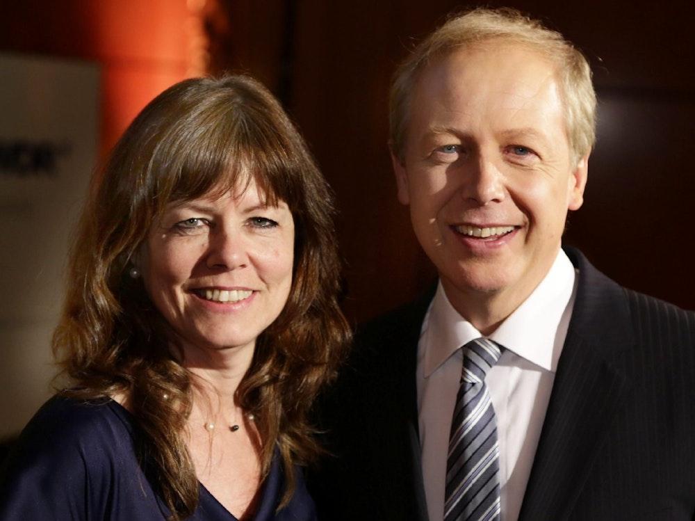 Da war noch alles gut: Tom Buhrow und seine Frau Sabine Stamer im letzten August.