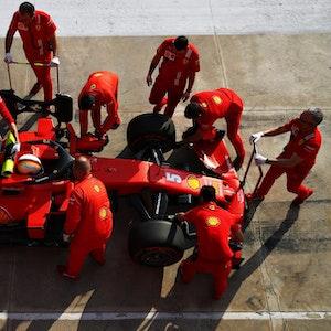 Vettel in der Box