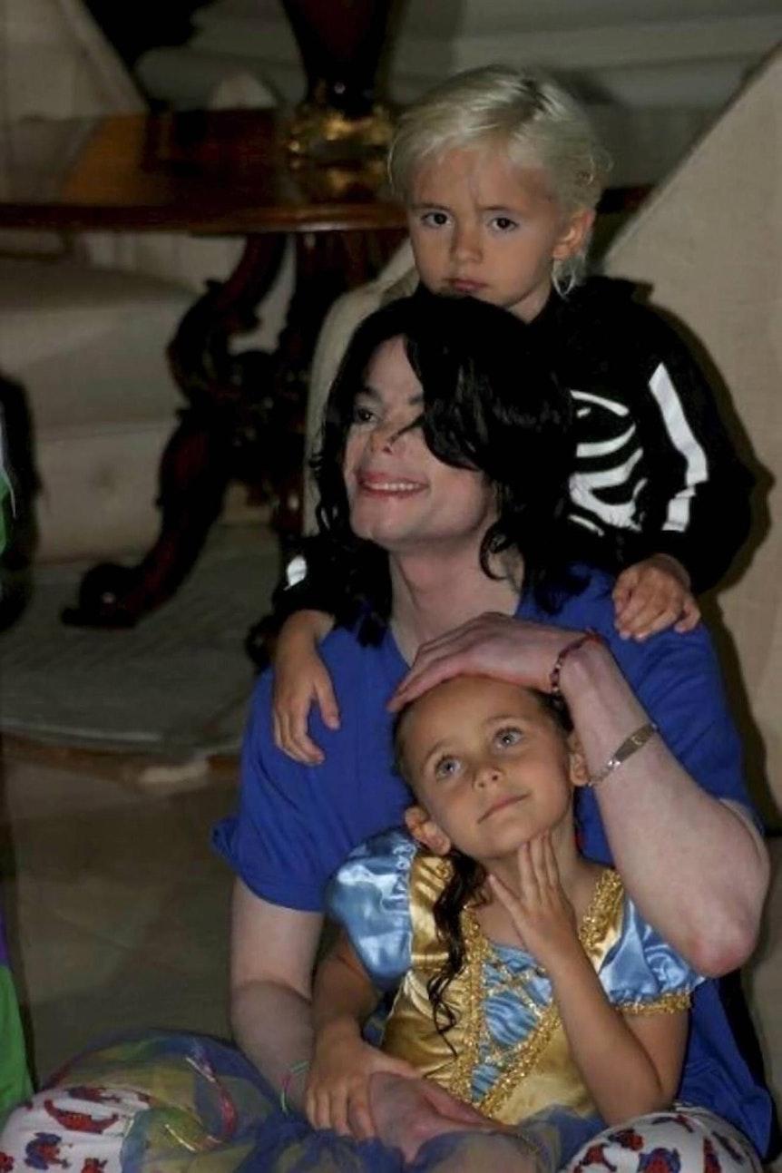 Michael Jackson mit seinen kindern