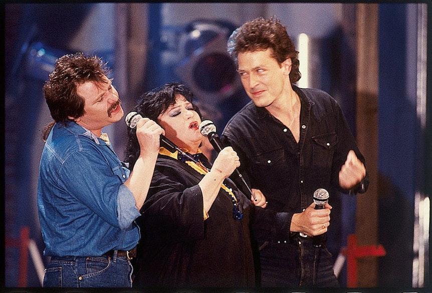 Trude Herr mit Tommy Engel und Wolfgang Niedecken