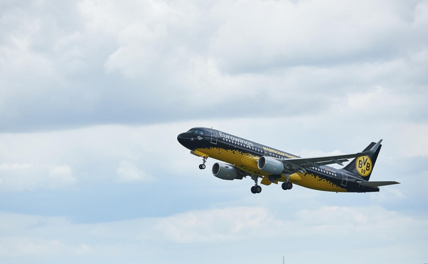B_Eurowings_BVB_A320 with BVB Livery_ Departure