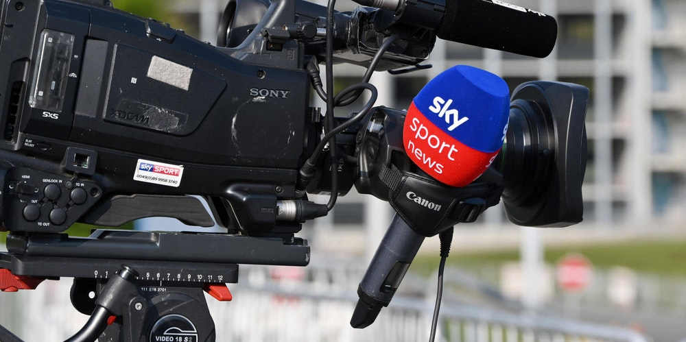 Kamera mit einem Sky-Mikrofon