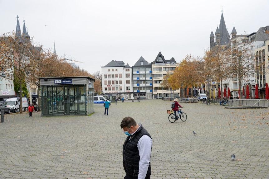 Der 11.11. auf dem Kölner heumarkt in der Corona-Pandemie