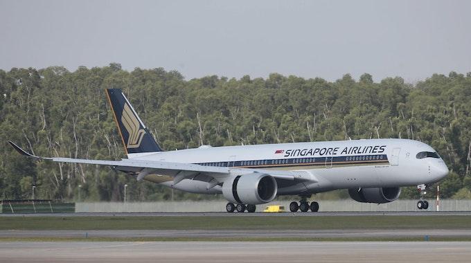 Singapore Airlines Flugzeug