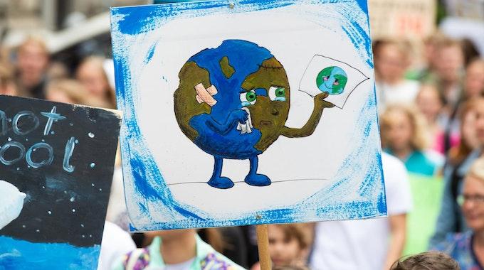 Ein Plakat auf einer Fridays-for-Future-Demo.