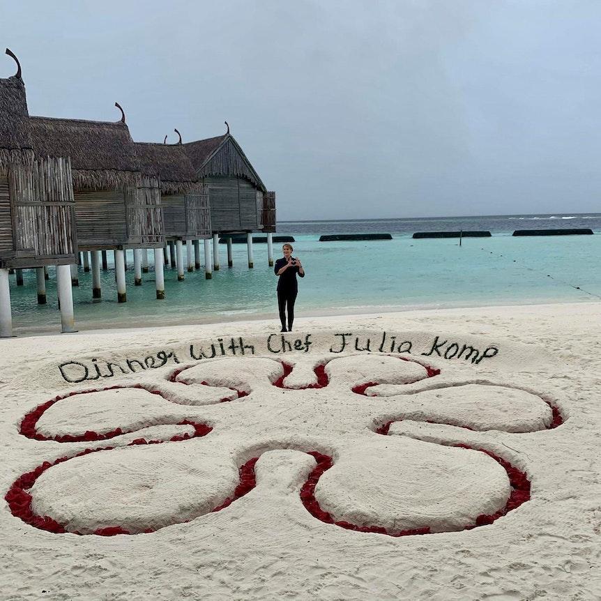 Julia Komp auf den Malediven