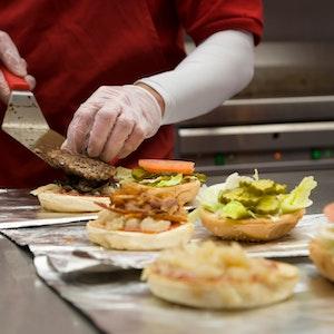 Burger preperation