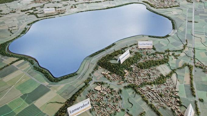 Im Braunkohlerevier bei Düren entsteht der größte NRW-See.