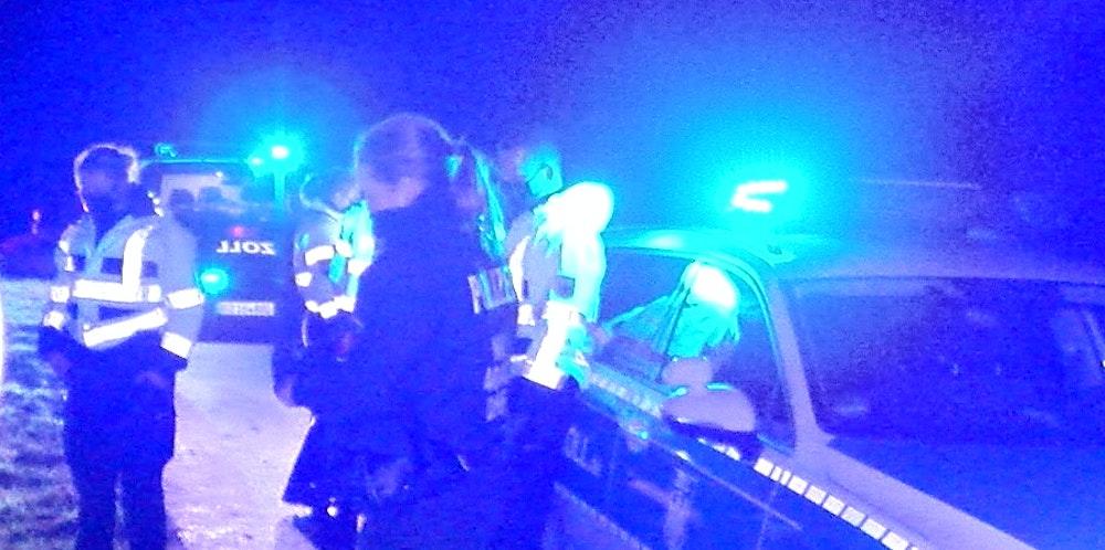 polizei einsatz nacht