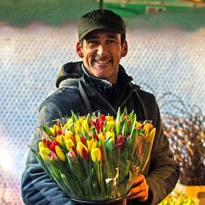 Tulpen. Die Frühlingsboten entfalten jetzt ihre Vielfalt auf den 38 Kölner Wochenmärkten und 4 Ökomärkten.