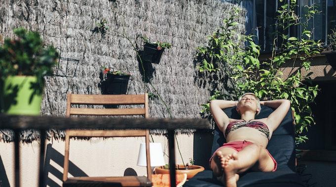 Sonnenbaden Balkon