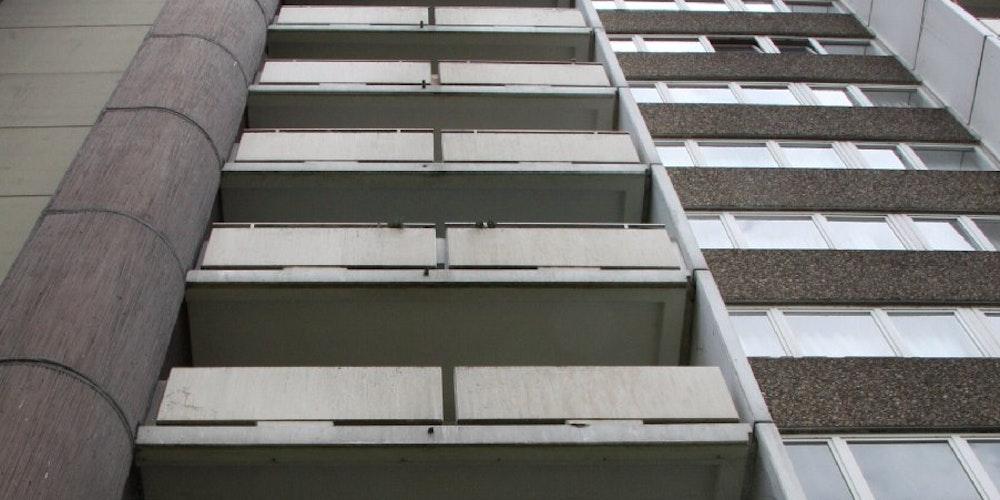 Aus dem 9.Stock dieses Hochhauses An der Fuhr wurde die Leiche geworfen.