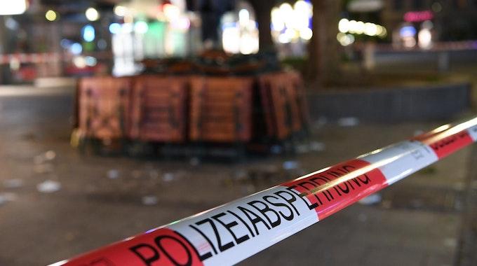Das Foto vom Juli 2016 zeigt eine Polizeiabsperrung in der Münchner Innenstadt.