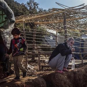 Blick ins Flüchtlingslager Vathy auf Samos