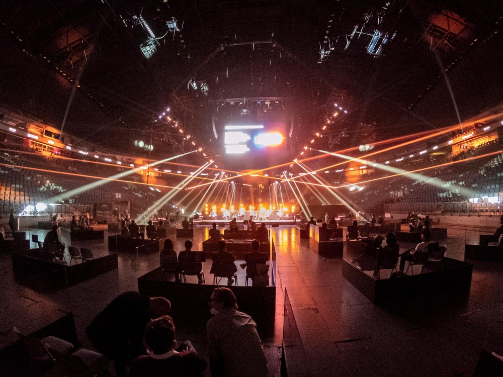 Ein Konzert mit reduzierter Besucheranzahl in der Lanxess-Arena