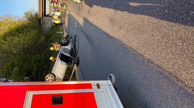 Auto überschlagen A42 Oberhausen