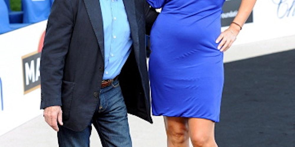 Bleibt dieses ungleiche Paar doch verheiratet? Bernie und Slavica Ecclestone im Sommer in Monaco.