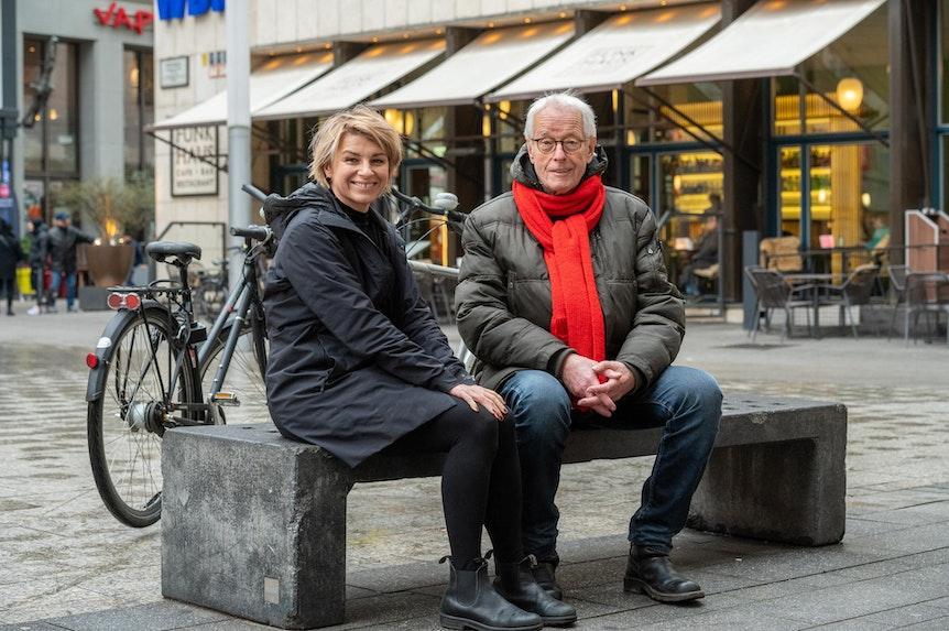 Sabine Heinrich an der Seite von EXPRESS-Reporter Horst Stellmacher